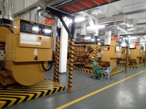 Four CAT diesel generators